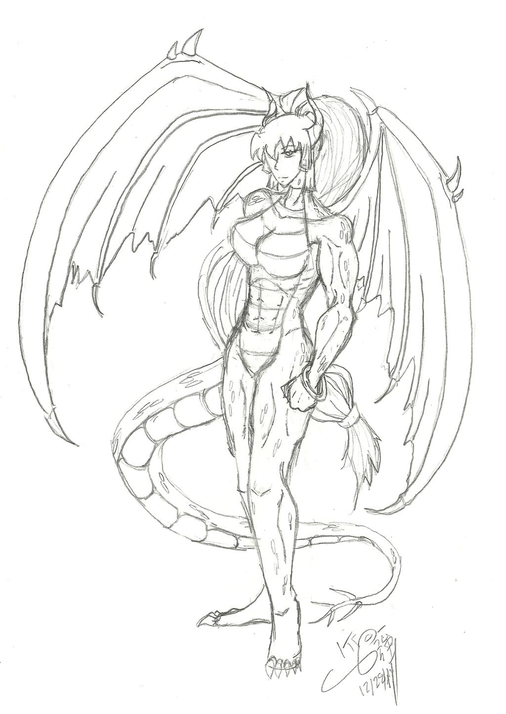 commission drawing dragon by kyokasha on deviantart