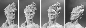 Firelord Mini-bust - Headshots