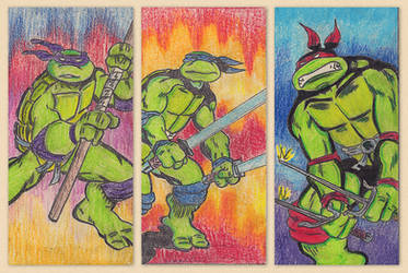 TMNT 3/4 by Anotheroutsider
