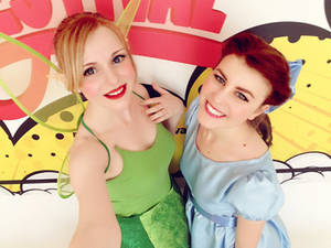 Tinkerbell and Wendy @ Roma Cartoon Festival