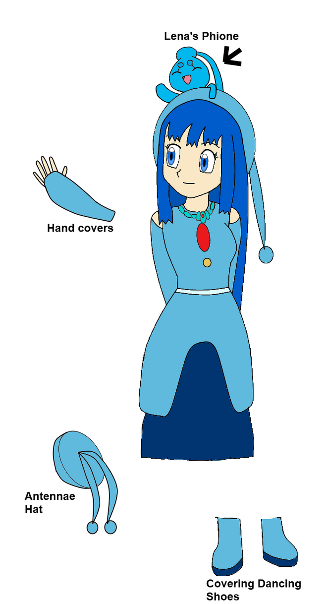 Lena's Manaphy outfit by Pilot231