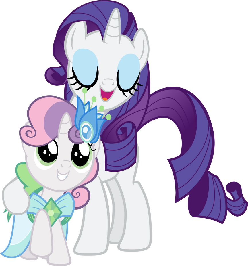 My little pony rarity and sweetie belle - photo#6