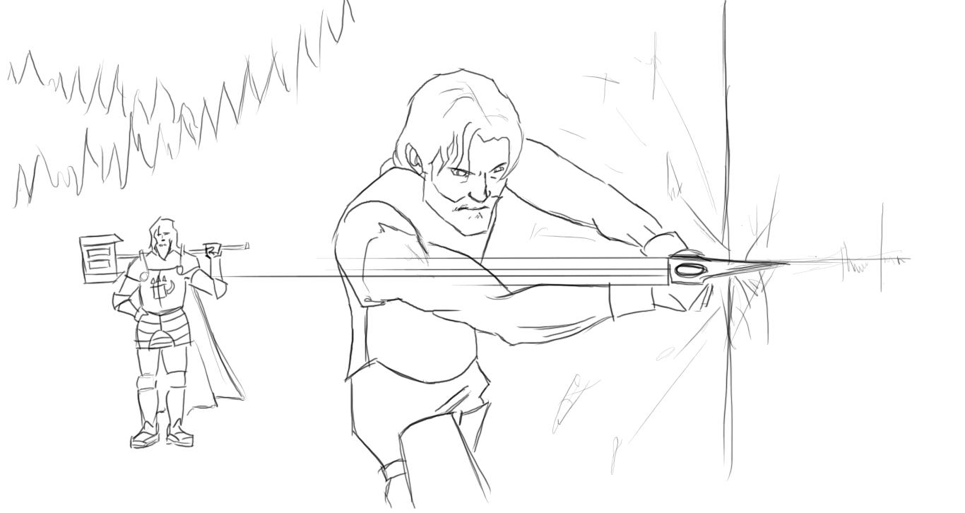 Stagg training wulfgar by KingAgrian