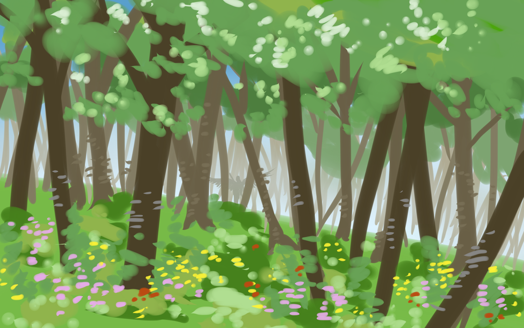 Flower Forest by KingAgrian