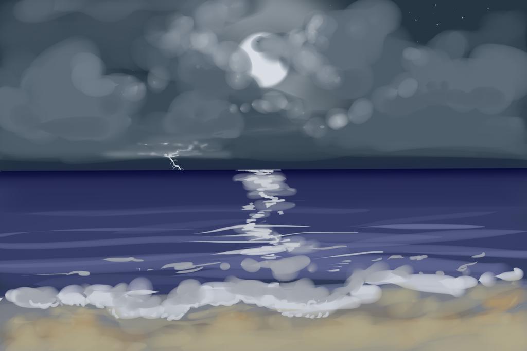 Ocean Lightning by KingAgrian