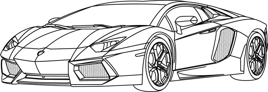 Lamborghini Huracan Coloring Pages