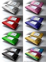 Nintendo DS colors. by jmdbcool