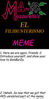 El filibusterismo meme BLANK