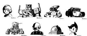 Inktober 2019 Drawings - Robots