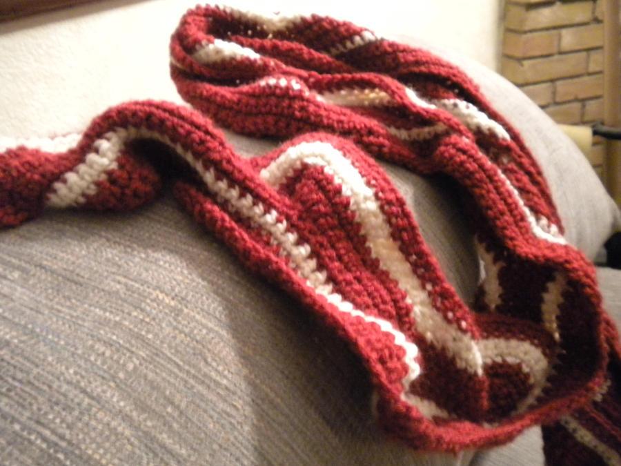 Knitting Pattern Bacon Scarf : Bacon Scarf...again. by chocobojockey on DeviantArt