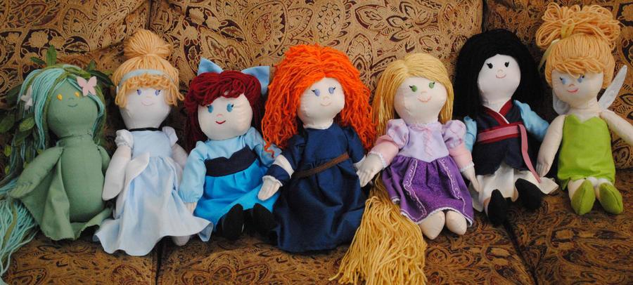 Disney Plush Dolls by chocobojockey
