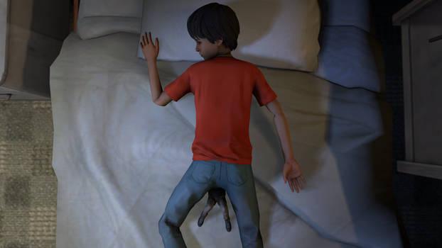 pinned in his sleep (life is strange 2)