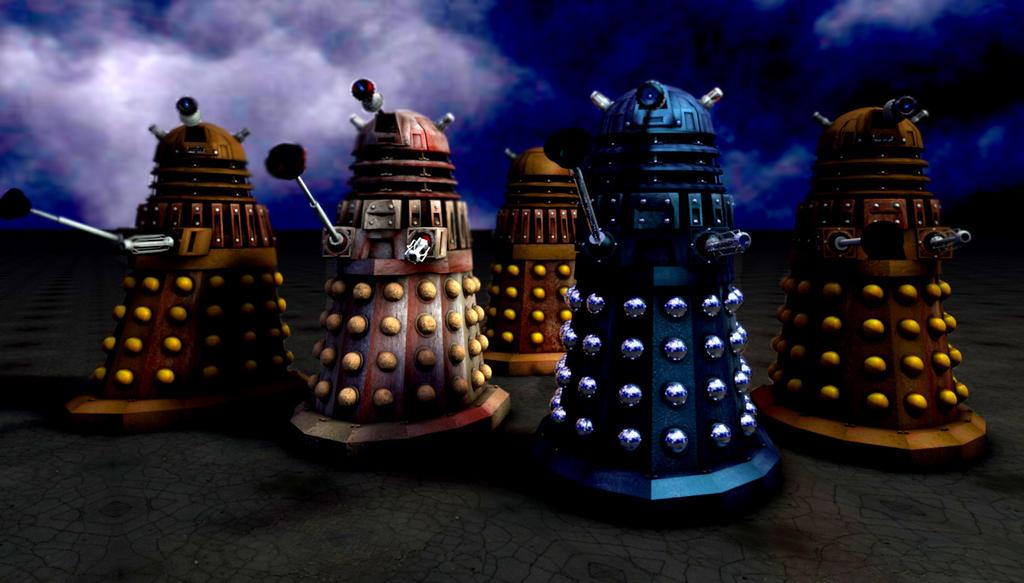 Dalek line-up by LEMIKEN