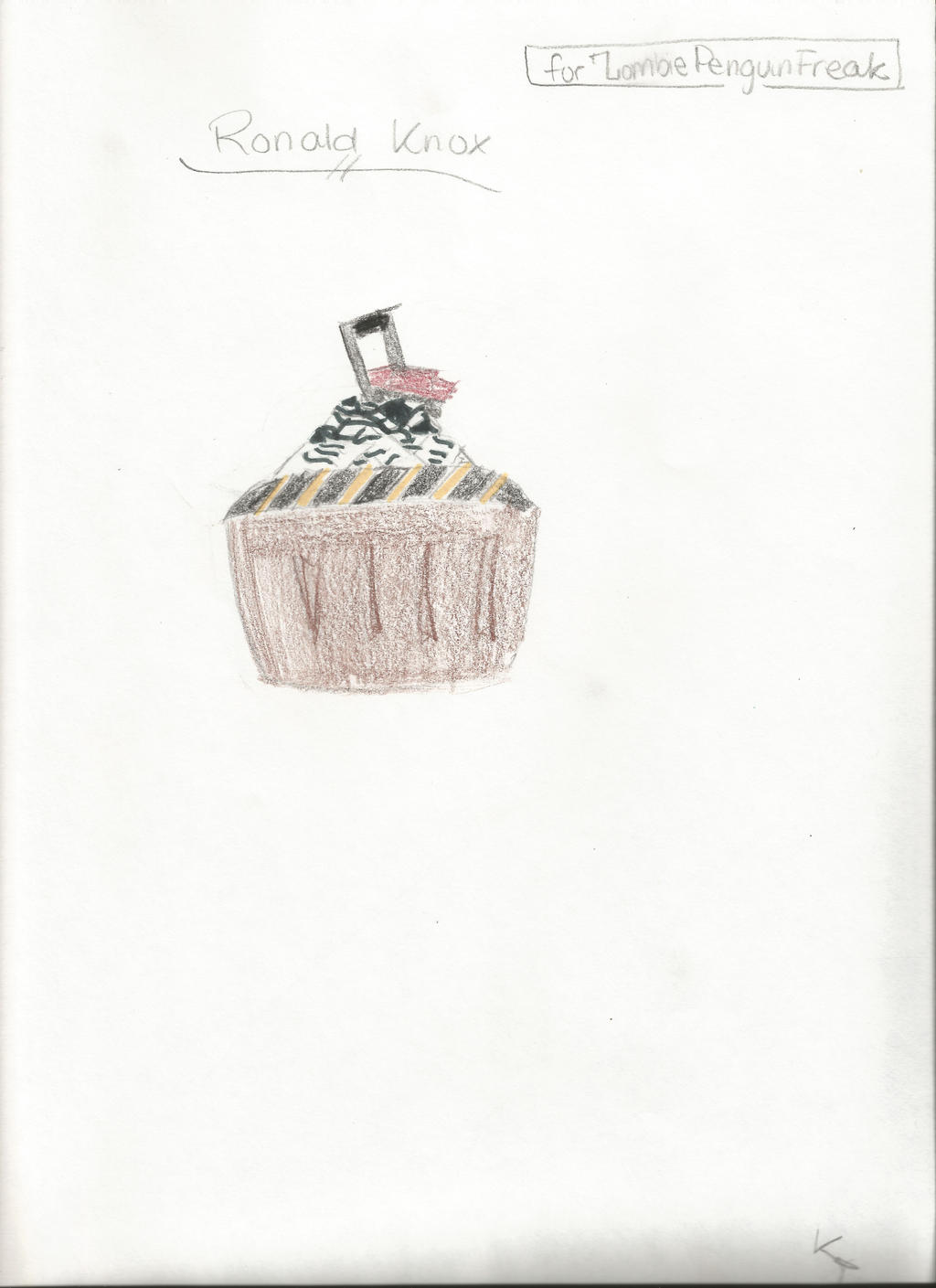 Ronald Knox Cupcake by kayleyster