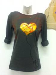 Sheilded Heart T-Shirt by LilDevilChild