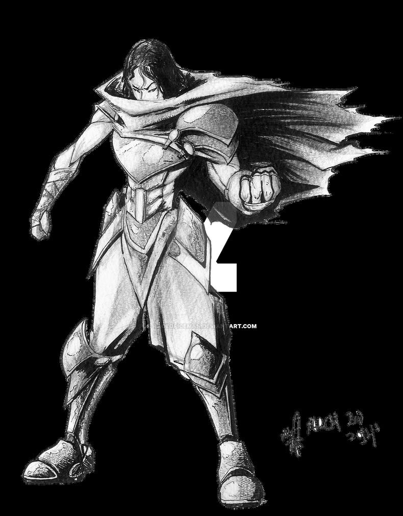Raiku Sketch Afro Samurai Style By Rageoficeman On Deviantart