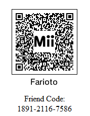 3DS Friend Code and Mii qr code by labian9999