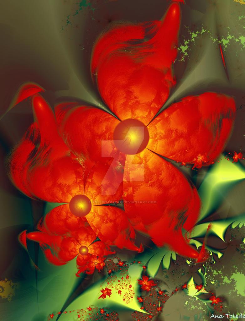 flores rojas by toledoarauxo