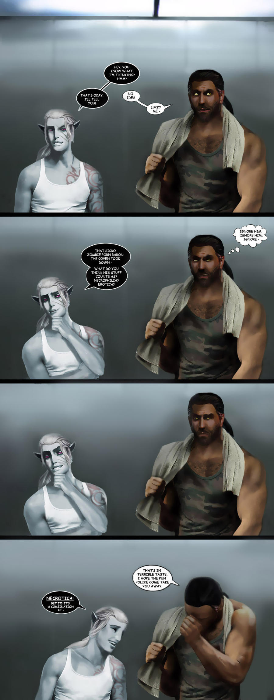 Under My Skin Interlude : Return Of The Elevator by LJ-Phillips