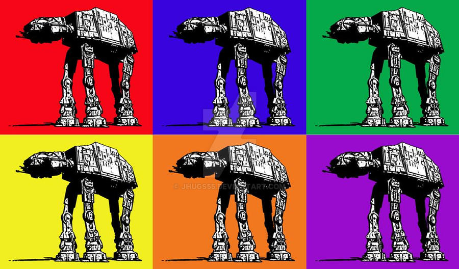 Star Wars At At Pop Art By Jhugs55 On Deviantart
