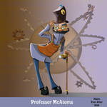 Professor McAtoms character concept by Zavellart