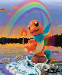Courageous Charmander by Zavellart