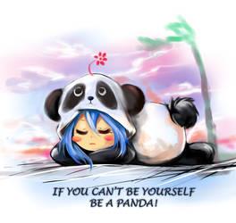 Like a panda by Sh0tisha
