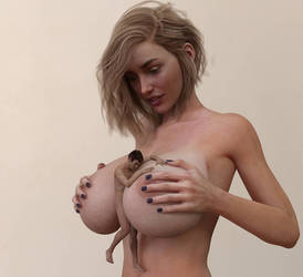 Caught Between Her Breasts by Flagg3D