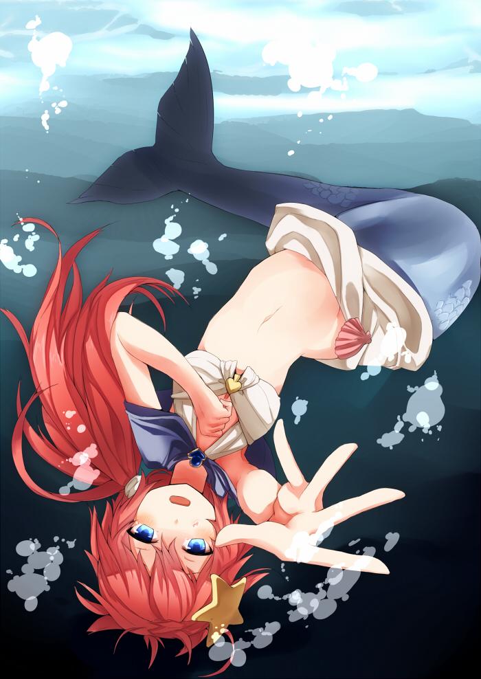 Melancholic mermaid by wacwacsan