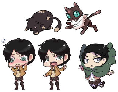 Eren and Levi Squiby Chibis by krokus00