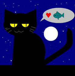 Cat: I love Fish by krokus00