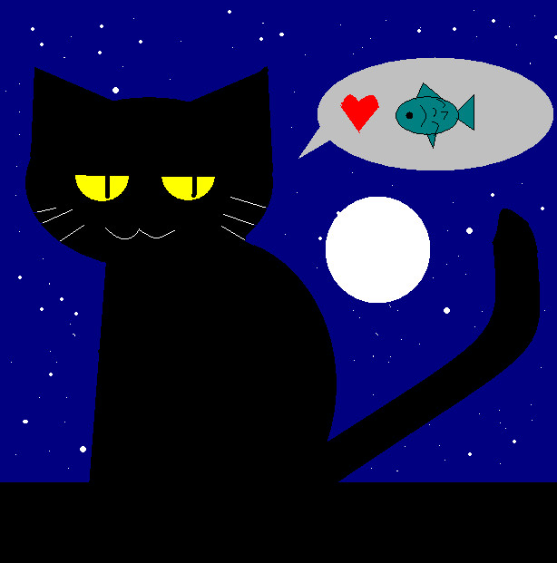 Cat i love fish by krokus00 on deviantart for I love the fishes
