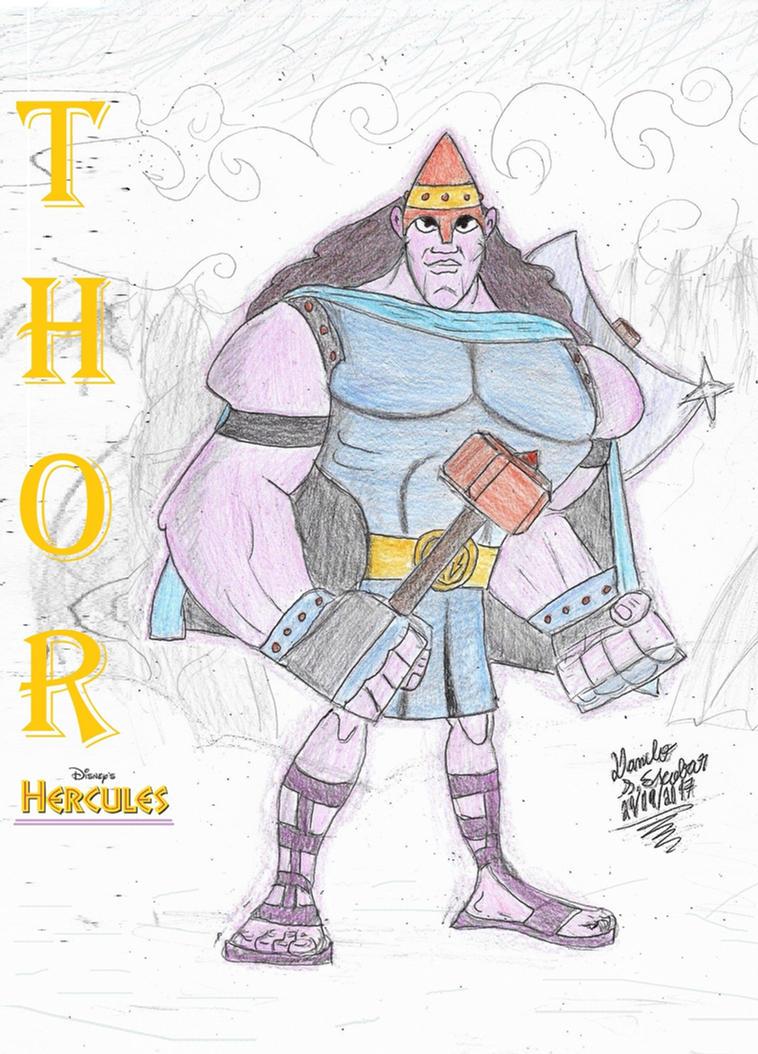 Thor (Disney's Hercules) by DaniloEscobar