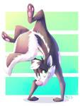 Commission: Skunk handstand