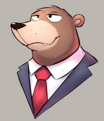 Bear in a suit by Nexeron