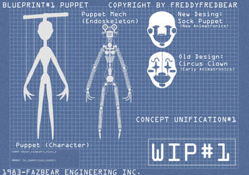 Concept Unification#1  Blueprint-Sock Puppet WIP1 by FreddyFredbear