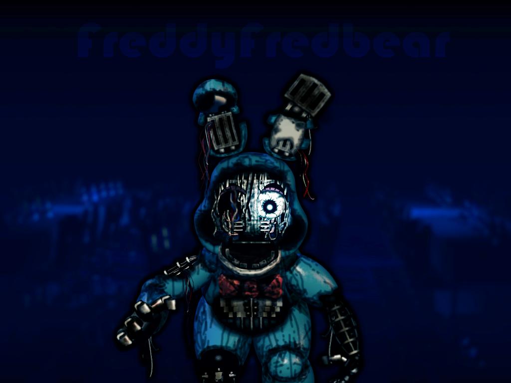 Withered Toy Bonnie (remake) by FreddyFredbear