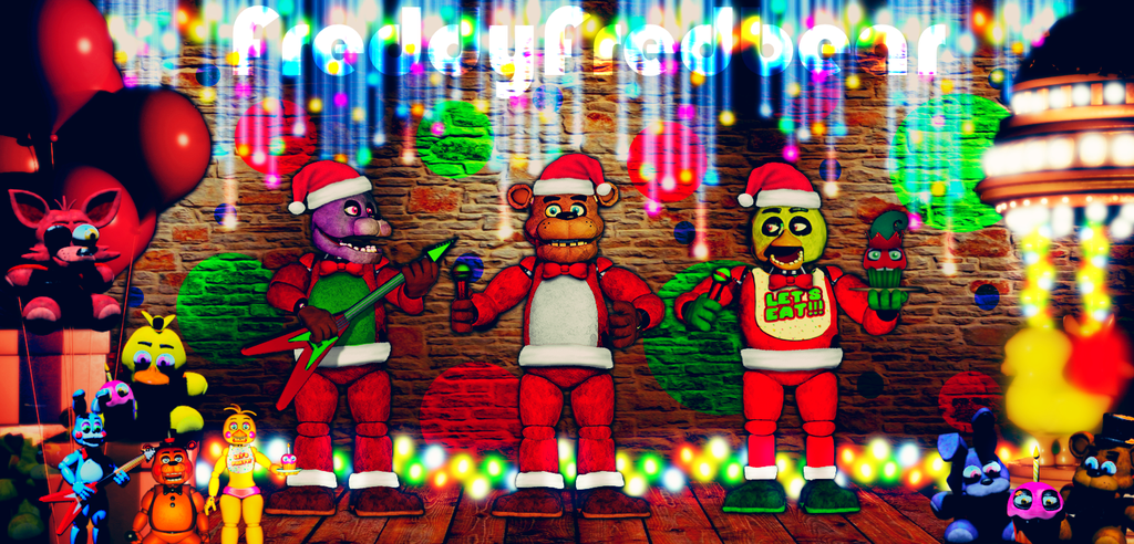 FNAF Christmas Stage - Merry Christmas! by FreddyFredbear on ...