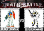 Death Battle Gundam vs Valkyrie by UrutoramanZenith