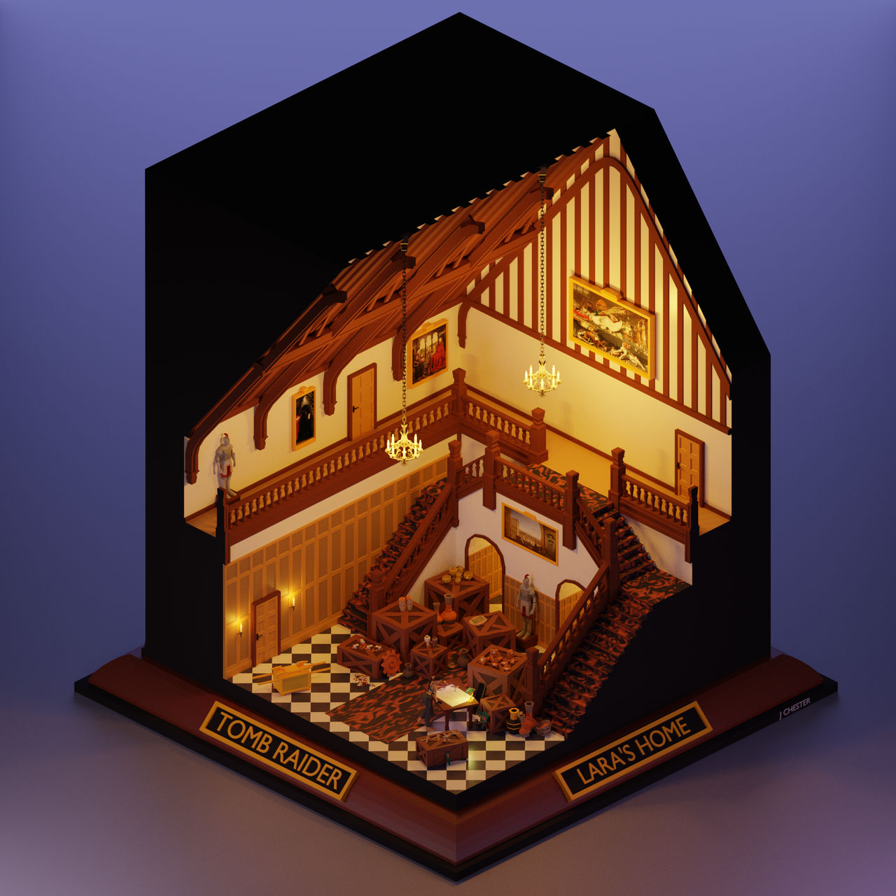 Lara's House Re-imagined (Tomb Raider 1996)