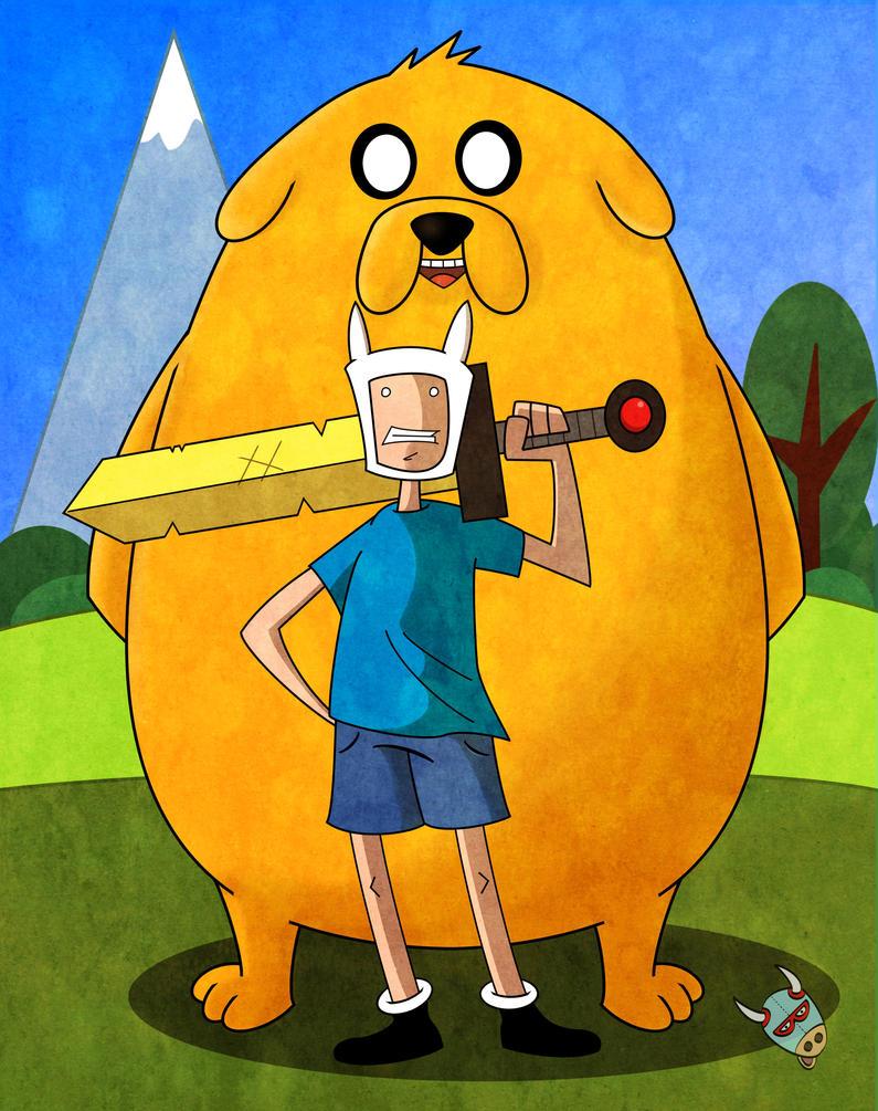 Jake and Finn by nachomoo