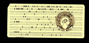 IPFW Hollerith Card
