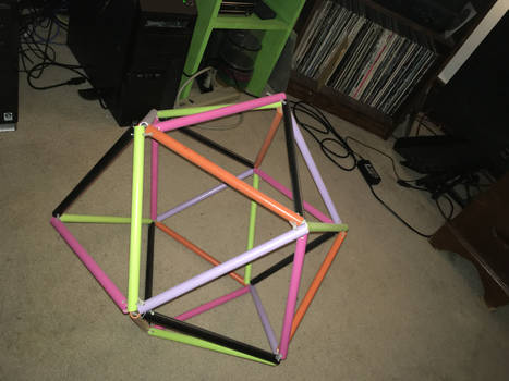 Five coloring of icosahedron edges