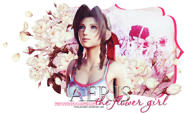 Aeris the flower girl by TifaxLockhart
