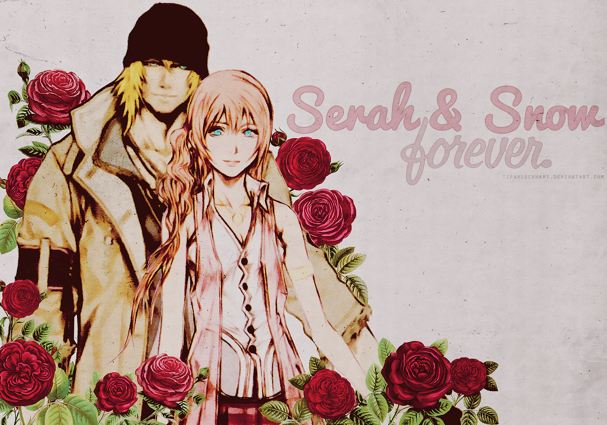 Serah and Snow Wallpaper by TifaxLockhart