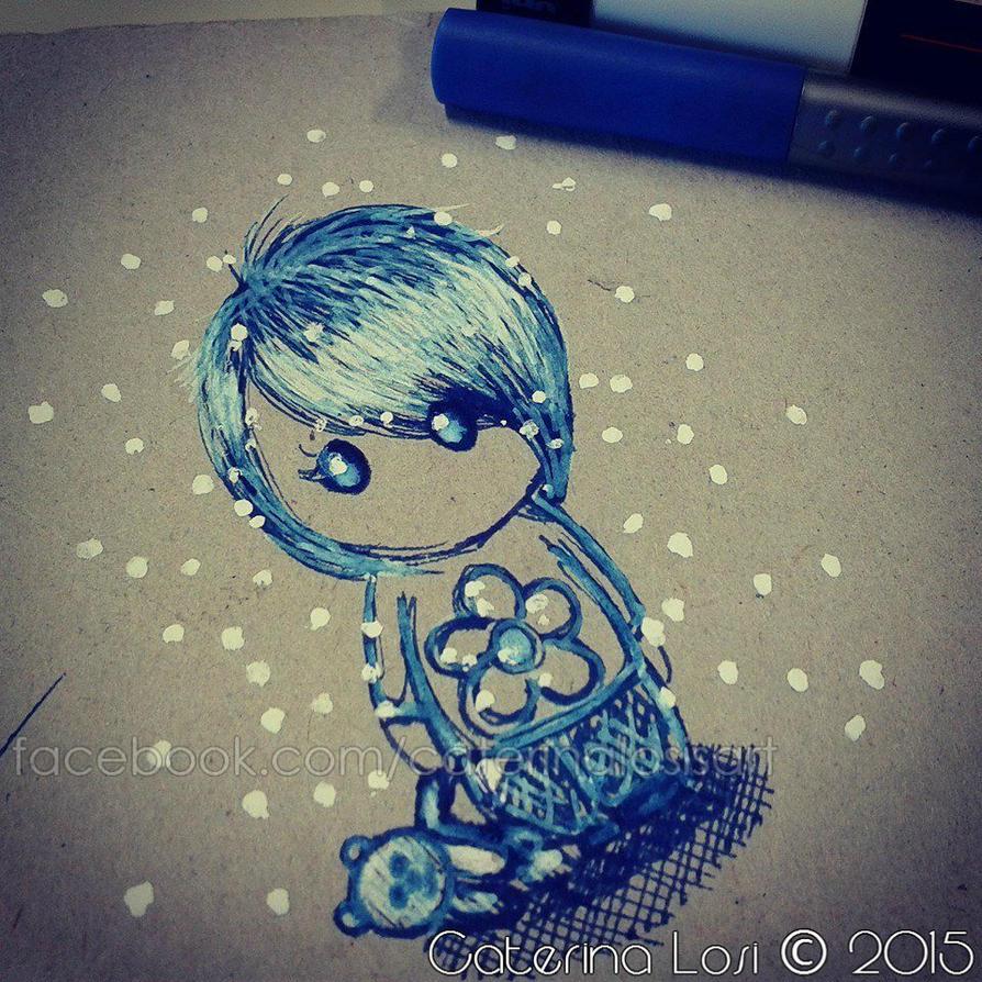 Blue chibi by EridiaErin