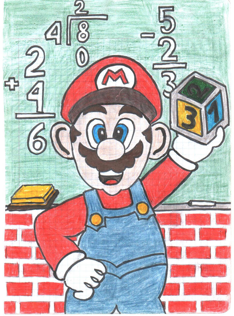 Image result for mario doing math
