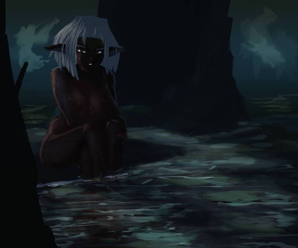 SCRAPS - Aisha in a dark af cave by GroovechampDA