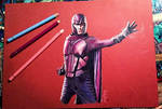 Magneto X-MEN DoFP Polychromos drawing