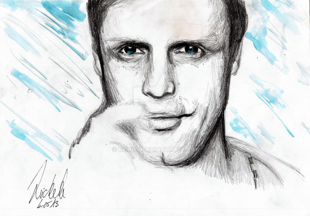 Dirk Meyer Voice Actor Pencil drawing by Reikii-7